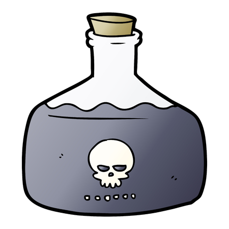 cartoon vial of assassin poison