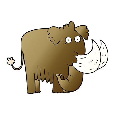 Cartoon mammoth Çizim