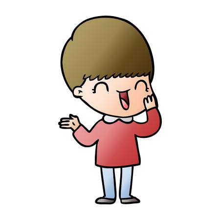 happy cartoon boy Vector illustration. Illustration