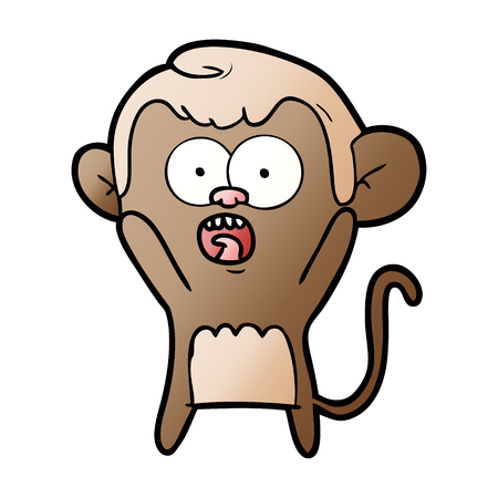 Cartoon shocked monkey 向量圖像