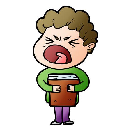 Karikatur wütenden Mann Standard-Bild - 95119447