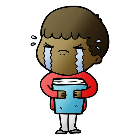 Cartoon man crying Illustration
