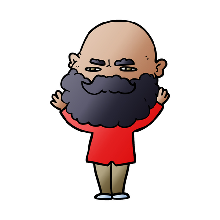 cartoon man with beard frowning