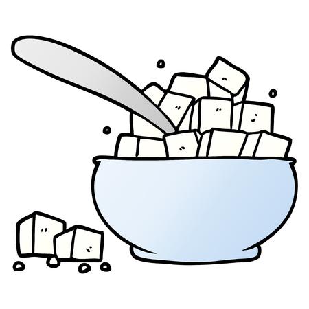 cartoon sugar bowl
