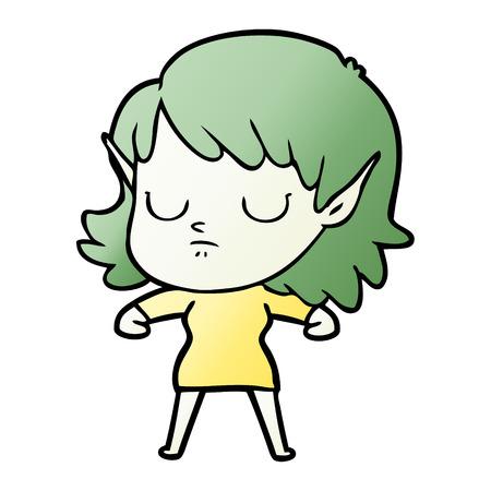 cartoon elf girl