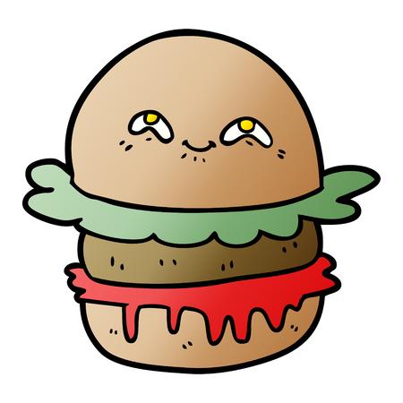 cartoon fast food burger