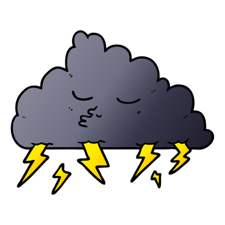 cartoon storm cloud Vector illustration. Banco de Imagens - 95083503
