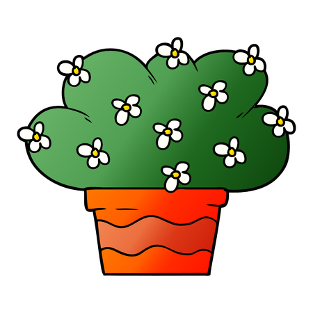 cartoon plant Vector illustration.