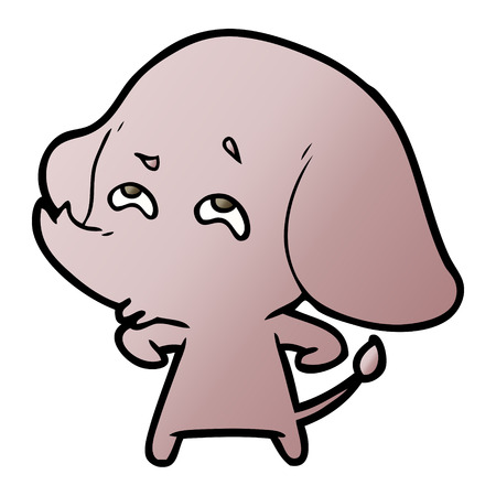 cartoon elephant remembering Illustration