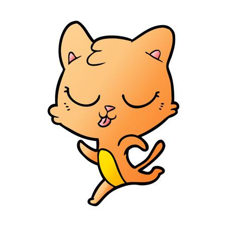 cartoon cat running Çizim