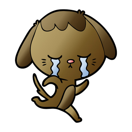 cartoon dog crying