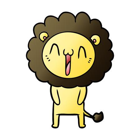 Happy cartoon lion. Illustration