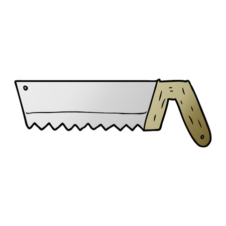 old saw cartoon Vector illustration. Ilustracja