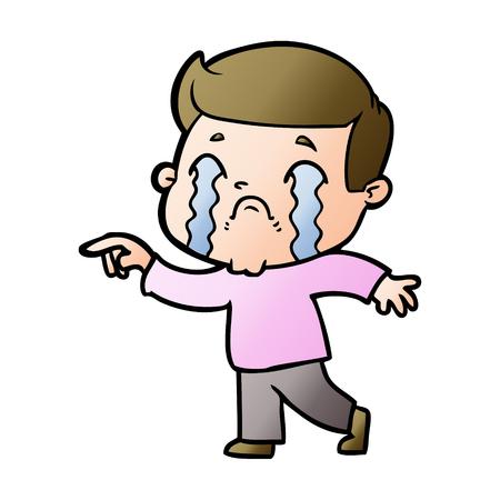 cartoon man crying Stok Fotoğraf - 95094570