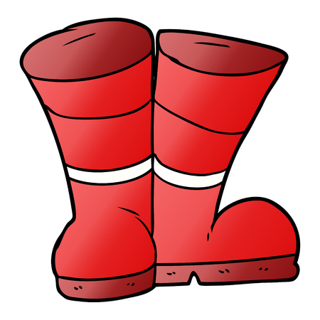 wellington boots cartoon Archivio Fotografico - 95094573