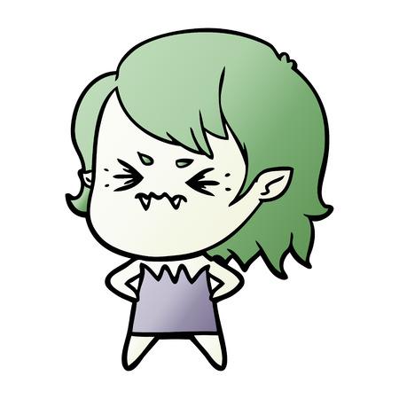 annoyed cartoon vampire girl