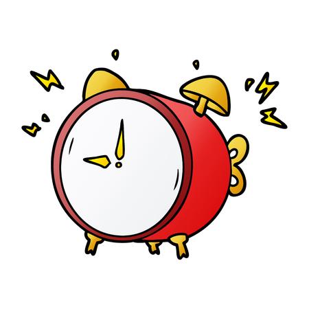 目覚まし時計を鳴らす漫画 写真素材 - 95094991