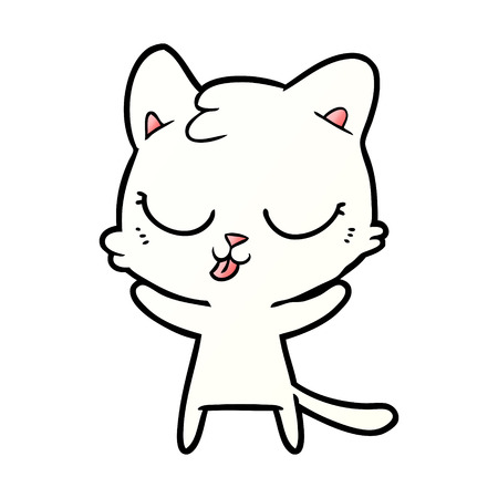cute cartoon cat Stock Vector - 95106544