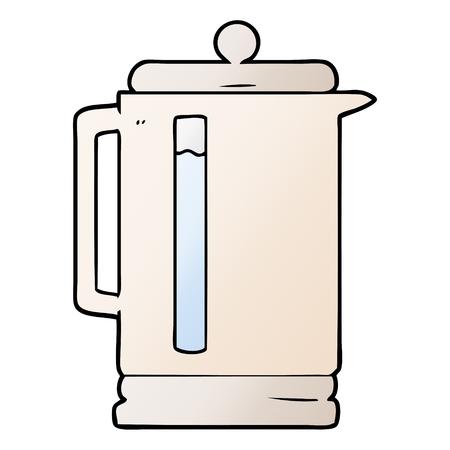 cartoon electric kettle 일러스트