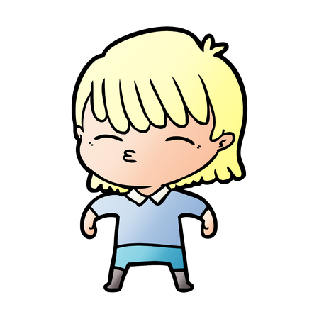 cartoon blonde woman