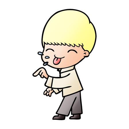 cartoon blonde boy