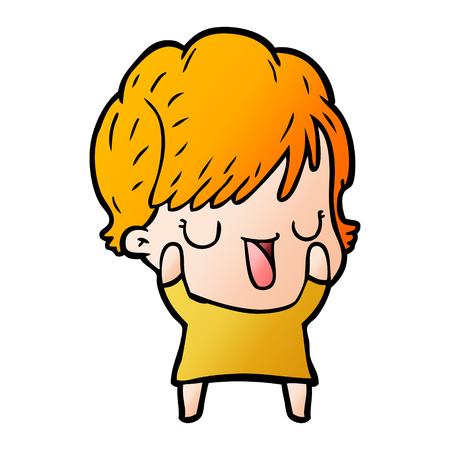 Mujer de dibujos animados hablando Foto de archivo - 95116708