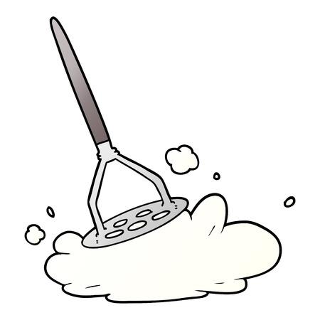 Cartoon potato masher Ilustração