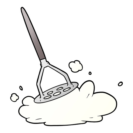 Cartoon potato masher Illustration