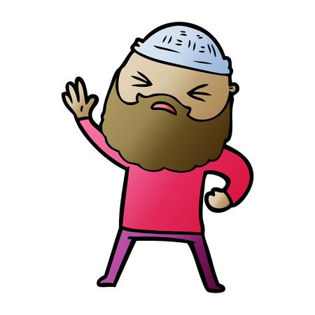 Hombre de dibujos animados con barba Foto de archivo - 95116883