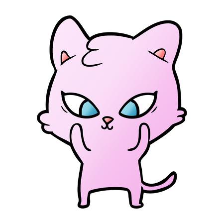 cute cartoon cat Stock Vector - 95116953