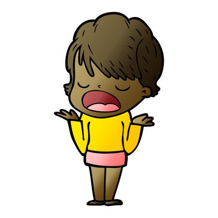 Cartoon woman talking
