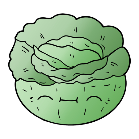 Cartoon cabbage