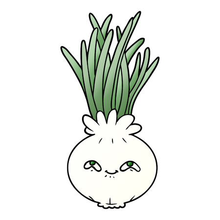 Cute cartoon onion