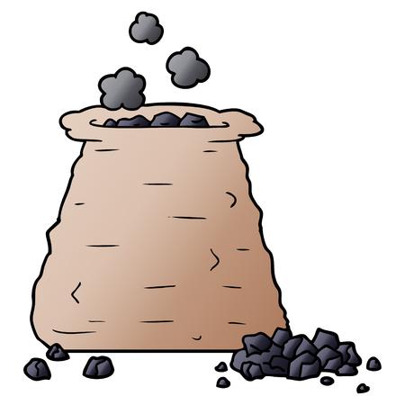 石炭の漫画袋