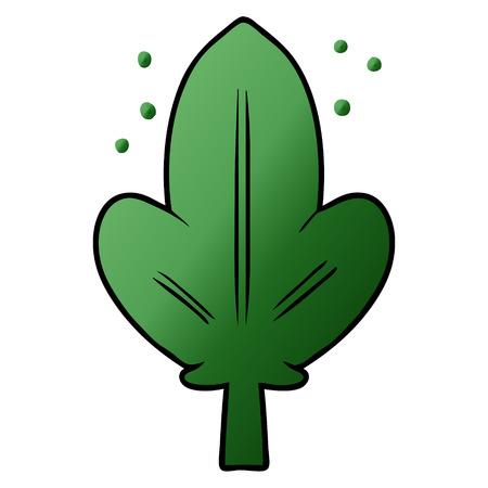 Cartoon green leaf