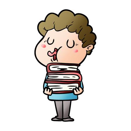 Cartoon man singing Ilustração