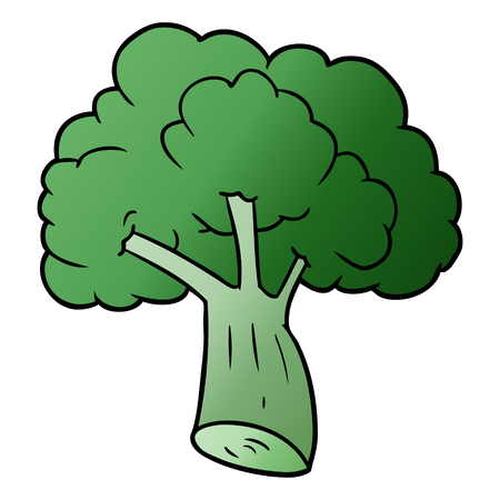 cartoon broccoli