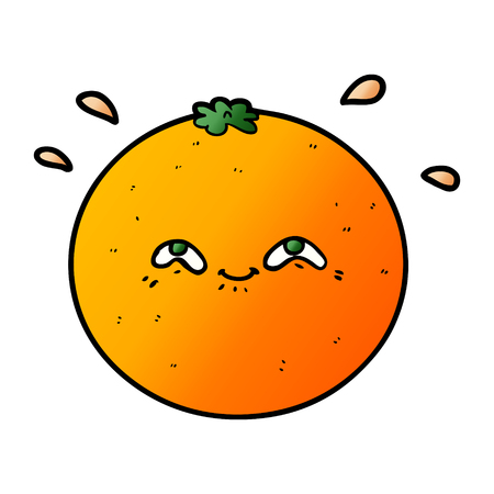 Cute cartoon orange
