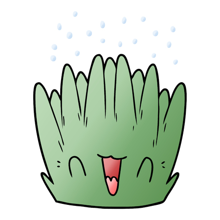 Cartoon zee plant