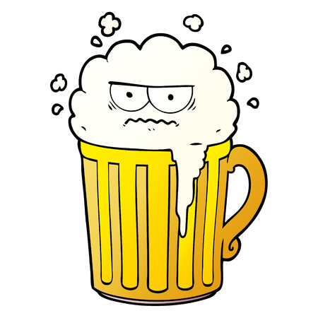 Cartoon mug of beer Illustration