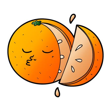 cartoon orange Stock Illustratie