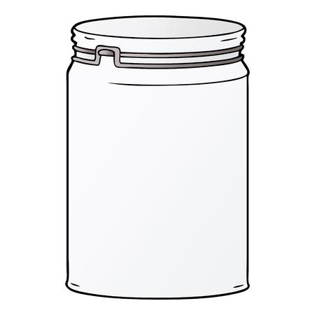 Cartoon empty glass jar
