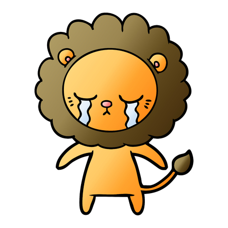 Crying cartoon lion Stok Fotoğraf - 95149414