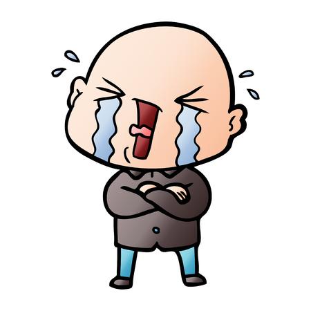 漫画泣くハゲ男