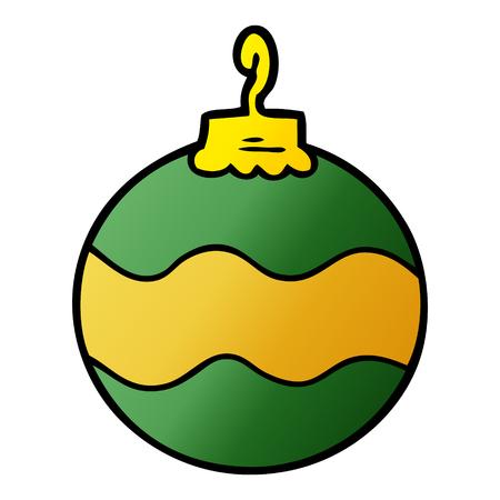 Cartoon Christmas bauble vector illustration