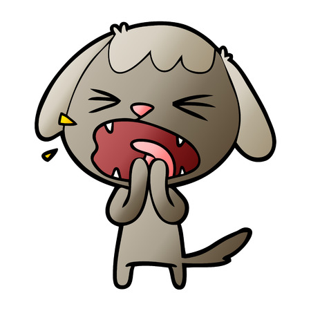 cute cartoon dog barking