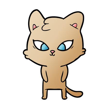 cute cartoon cat Stock Vector - 95143427