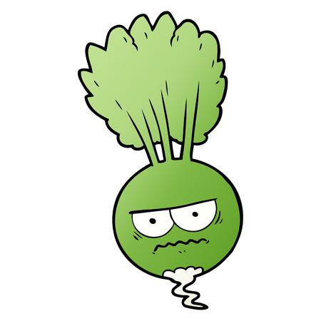 cartoon root vegetable