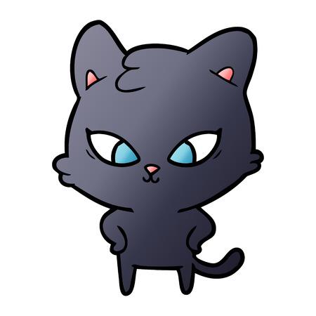 Cute cartoon cat Stock Vector - 95146927