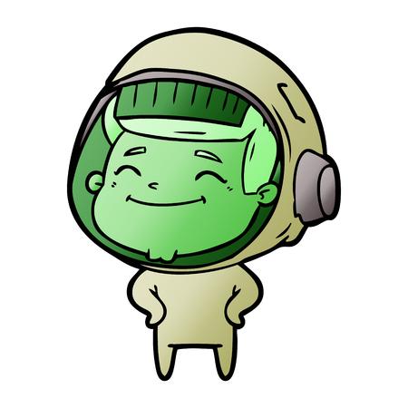 Happy cartoon astronaut